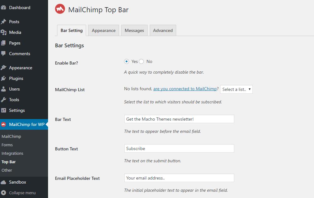 Hello Bar Alternatives: 6 Free WordPress Notification Bar Plugins 3