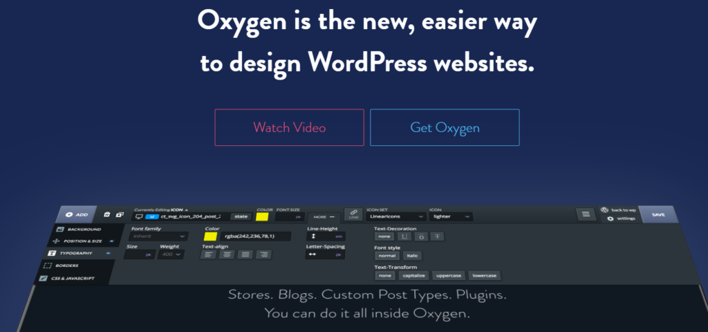 oxygen wordpress website builder for developers